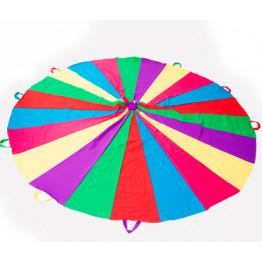 Игра парашют Радуга мультиколор 22 секторов 8 ручек арт. ИИ149