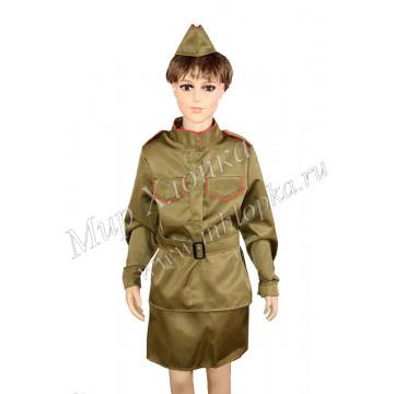 """Военный костюм """"Солдатка"""" с пилоткой арт. КС129 - 1,194.00"""