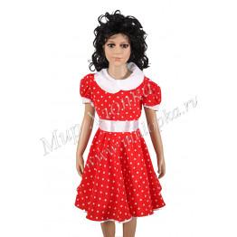 """Платье для танцев """"Горох"""" арт. КС 122"""