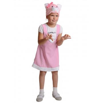 Кошечка Розовая  ткань-плюш - 660.00