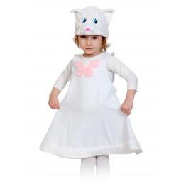 Кошечка белая ткань-плюш NEW!