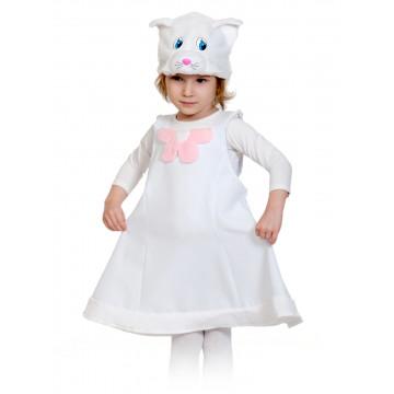 Кошечка белая ткань-плюш NEW! - 660.00