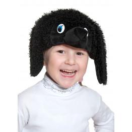 Пудель чёрный маска