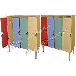 Шкаф для одежды 4-х секционный (металлокаркас)  арт. m-233-4