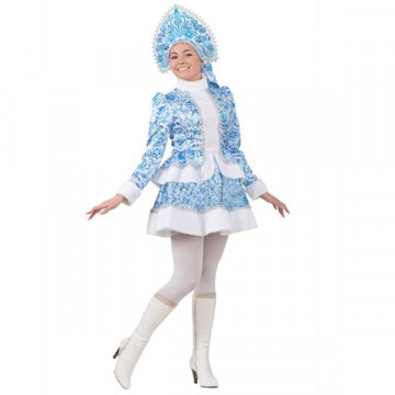 Снегурочка Гжель короткая юбка (д/взр) р.44 - 4,620.00