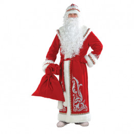 Дед Мороз аппликация красный (д/взр) р.54-56
