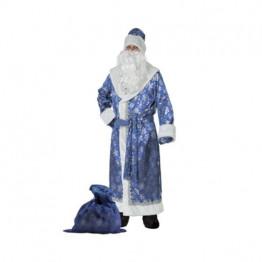 Дед Мороз сатин синий (д/взр) р.54-56