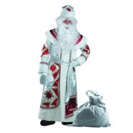 Дед Мороз серебряно-красный (д/взр) р.54-56