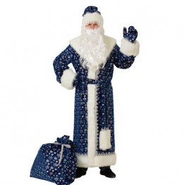 Дед Мороз плюш синий (д/взр) р.54-56