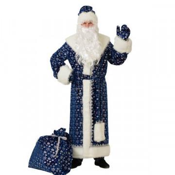 Дед Мороз плюш синий (д/взр) р.54-56 - 3,540.00