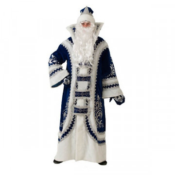 Костюм Деда Мороза Купеческий синий р.54-56 - 7,920.00