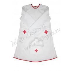 Детский халат медсестры с головным убором арт. КС304