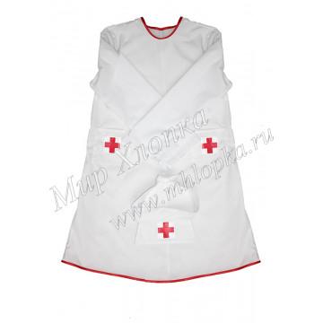 Детский халат медсестры с головным убором арт. КС304 - 540.00