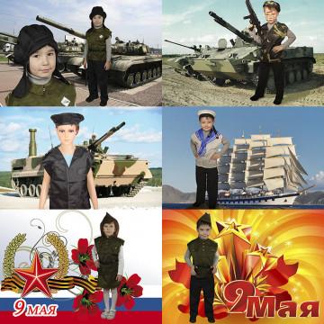 Набор детских военных костюмов - 2,034.00