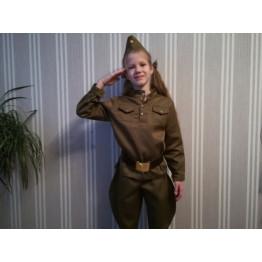 """Военный костюм """"Солдат"""" с галифе арт. КС45"""