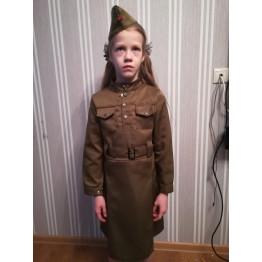 Платье военных лет для девочки арт. КС344