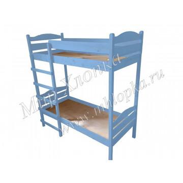 Кровать детская двухъярусная синяя