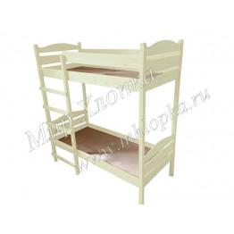 Кровать детская двухъярусная слоновая кость