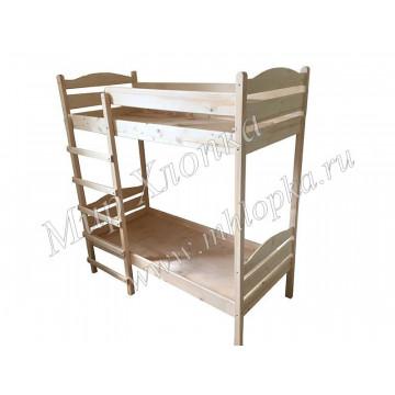 Кровать детская двухъярусная лак
