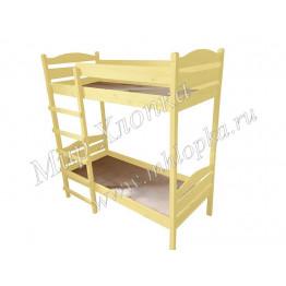 Кровать детская двухъярусная желтая