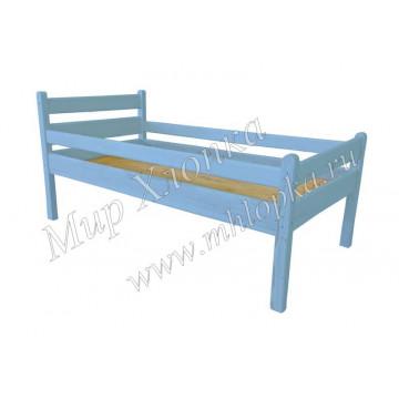 """Кровать детская """"Мишаня"""" с бортами синяя"""