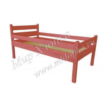 """Кровать детская """"Мишаня"""" с бортами красная"""