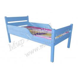 """Кровать детская """"Мишаня"""" с полубортами синяя"""