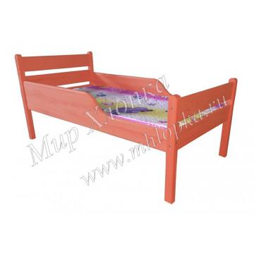 """Кровать детская """"Мишаня"""" с полубортами красная - 4,680.00"""