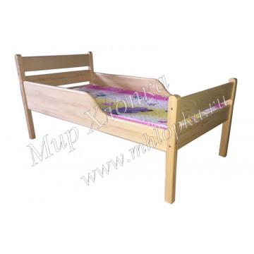 """Кровать детская """"Мишаня"""" с полубортами лак"""