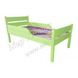 """Кровать детская """"Мишаня"""" с полубортами зеленая"""