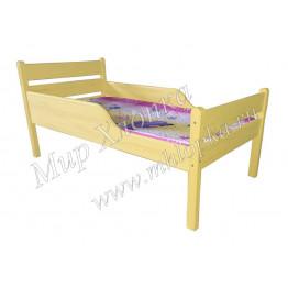 """Кровать детская """"Мишаня"""" с полубортами желтая"""