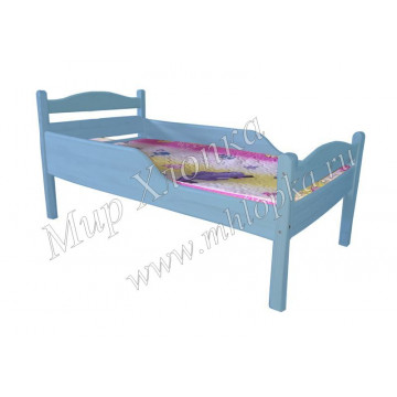 """Кровать детская """"Соня"""" с полубортами синяя - 4,680.00"""