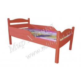"""Кровать детская """"Соня"""" с полубортами красная"""