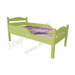 """Кровать детская """"Соня"""" с полубортами зеленая"""