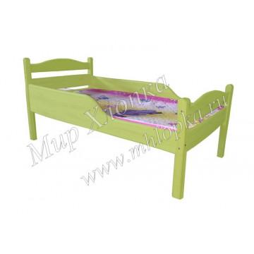 """Кровать детская """"Соня"""" с полубортами зеленая - 4,680.00"""