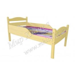 """Кровать детская """"Соня"""" с полубортами желтая"""
