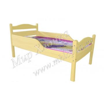 """Кровать детская """"Соня"""" с полубортами желтая - 4,680.00"""