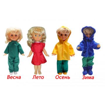 Одежда дидактическая для куклы 4-сезона с шубой арт. ОК01 - 702.00