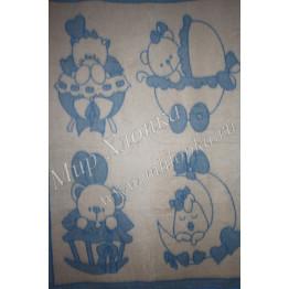 Одеяло п/ш жаккард пл.400г/м2  детский рисунок (Украина)140Х100 арт. ОП13