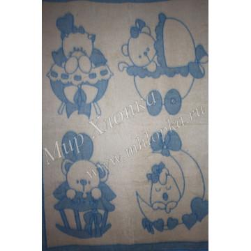 Одеяло п/ш жаккард пл.400г/м2  детский рисунок (Украина)140Х100 арт. ОП13 - 648.00