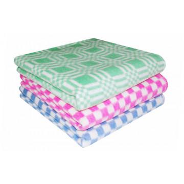Одеяло байковое 1,5 сп клетка двухцветная - 875.00