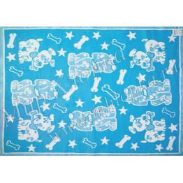 Одеяло байковое Жаккард детский рисунок 140Х100  арт. ОП16