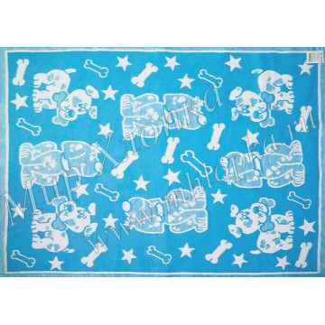 Одеяло байковое Жаккард детский рисунок 140Х100  арт. ОП16 - 684.00
