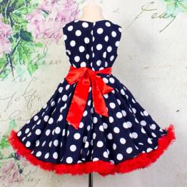 """Платье для танцев """"Стиляги"""" синее арт. КС372.5"""