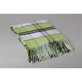 Одеяло-плед 100% хлопок клетка, вафелька 140х200