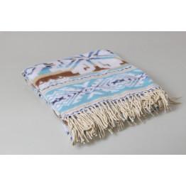 Одеяло-плед 100% хлопок жаккард 140х200