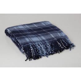 Одеяло-плед 25% шерсть клетка 130х170