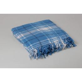 Одеяло-плед 25% шерсть клетка 140х200