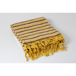 Одеяло-плед 25% шерсть вафелька, волна 140х200