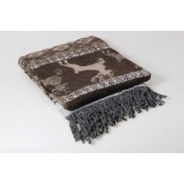 Одеяло-плед 25% шерсть жаккард 140х200